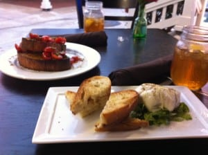 Photo of Burrata and Bruschetta at Blue Ribbon Pizzeria
